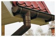 Водосточную систему пластиковую D-125 белую,  коричневую к-т