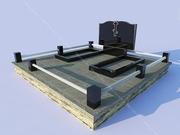 Благоустройство мест захоронения. Плитка,  фундамент,  ограды,  памятники